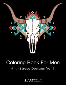 Coloring book for men cover