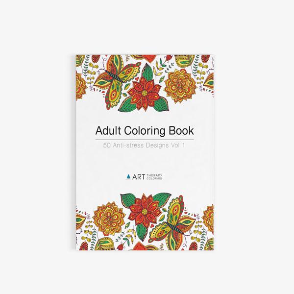 Adult Coloring Book: 50 Anti-Stress Designs