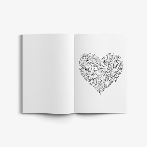 50 anti stress designs-heart design page