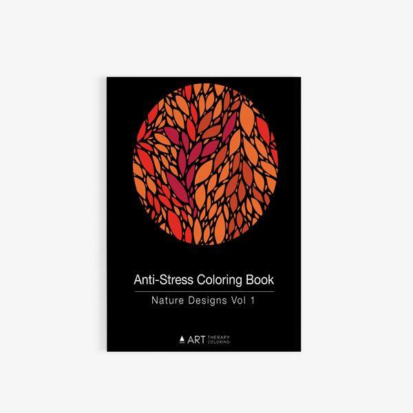 Anti Stress Coloring Book Nature Designs Vol 1 cover