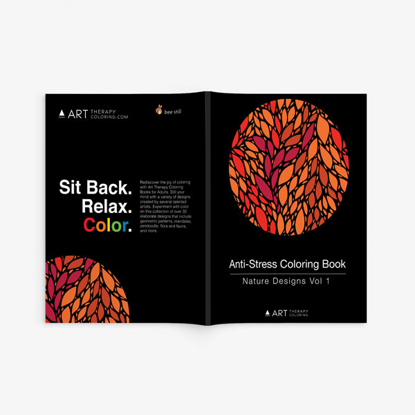 Book Cover Design Nature : Anti stress coloring book nature designs vol art