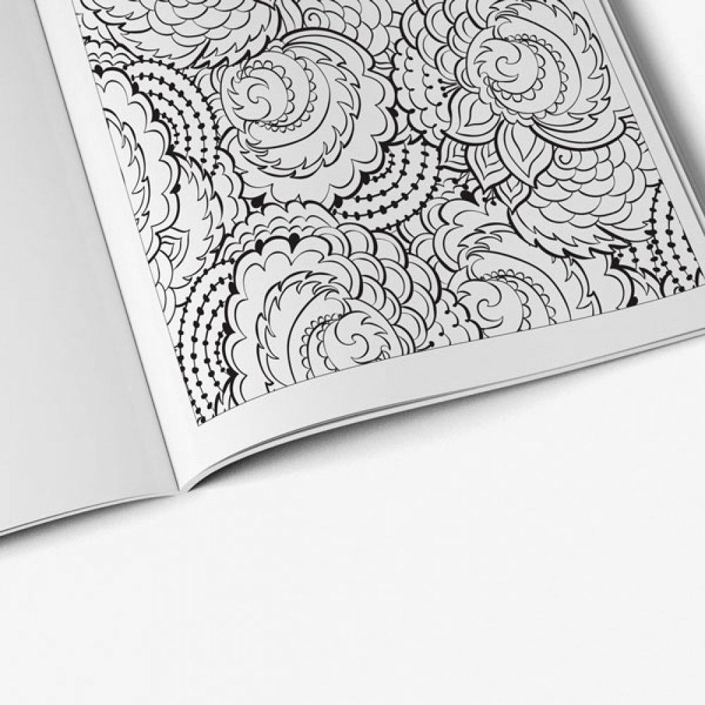 Stress coloring books - Anti Stress Coloring Book Nature Designs Vol 1 Page Preview