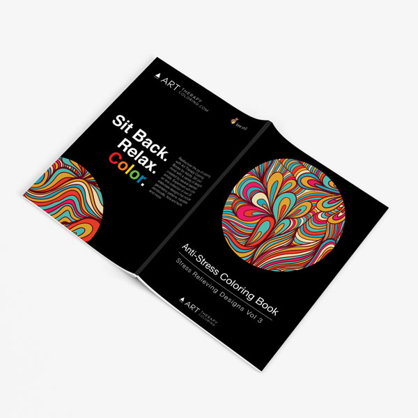 Anti-Stress Coloring Book Stress Relieving Designs Vol 3 full cover spread out