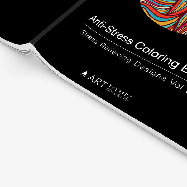 Anti-Stress Coloring Book Stress Relieving Designs Vol 3 zoomed in cover