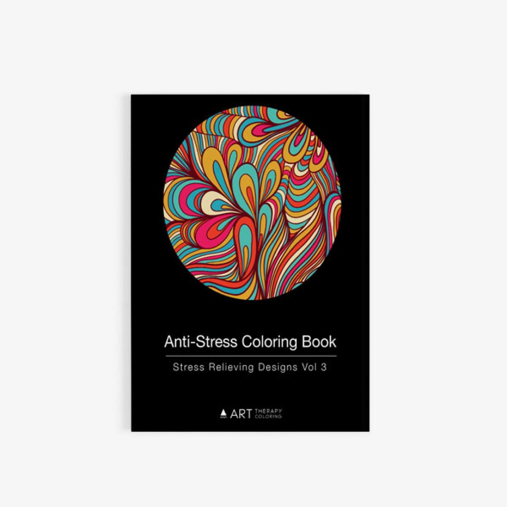 Anti-Stress Coloring Book Stress Relieving Designs Vol 3 front cover
