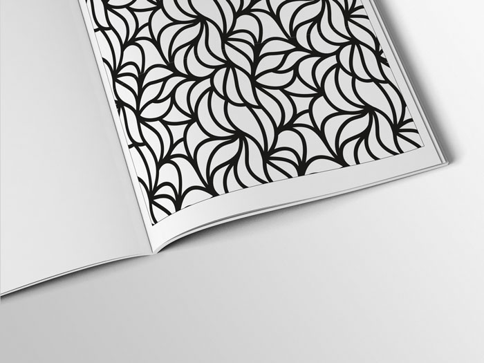 Coloring book page for seniors
