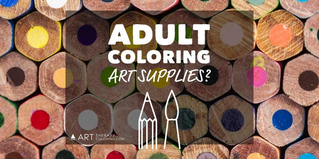 adult coloring art supplies color pencils