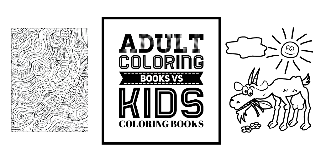 adult coloring books are more intricate than kids coloring books