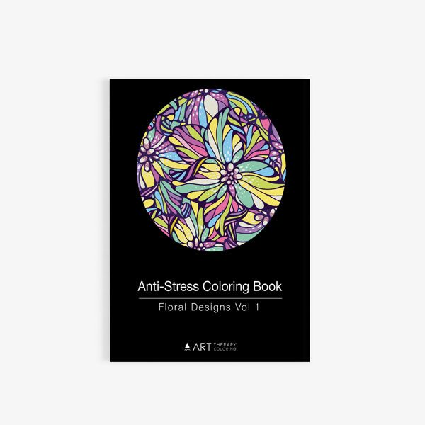 anti-stress coloring book floral designs vol 1 Cover