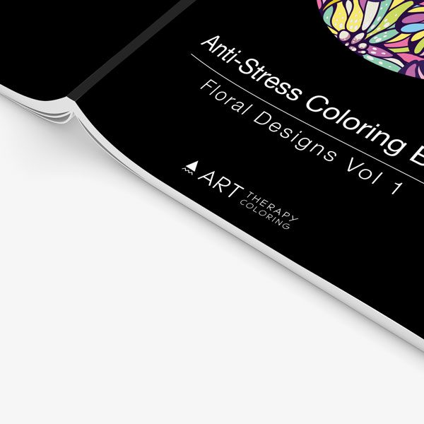 anti-stress coloring book floral designs vol 1 cover zoomed in