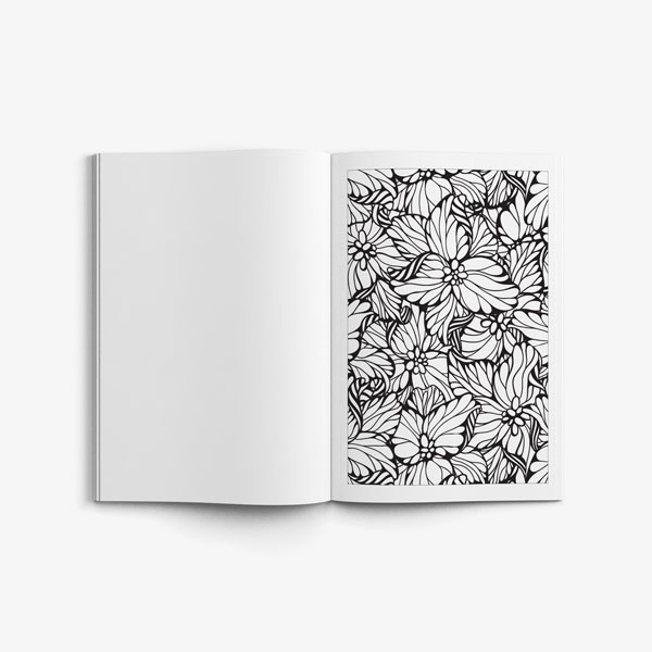 anti-stress coloring book floral designs vol 1 flower page