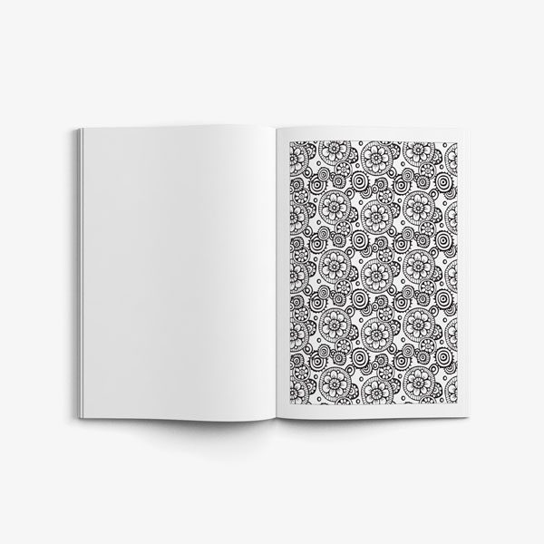 anti-stress coloring book floral designs vol 1 flower pattern page