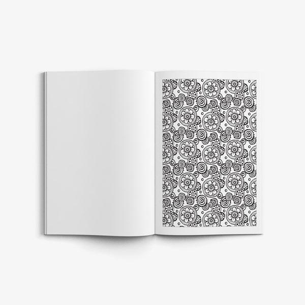 Flower Designs Coloring Book Volume 1 Garden Party