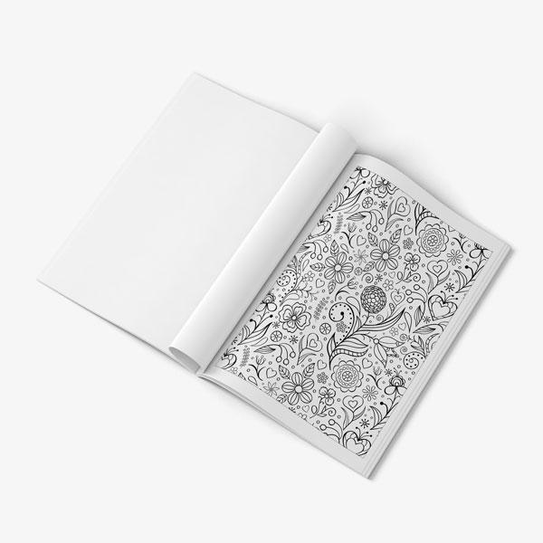 Anti Stress Coloring Book Floral Designs Vol 1