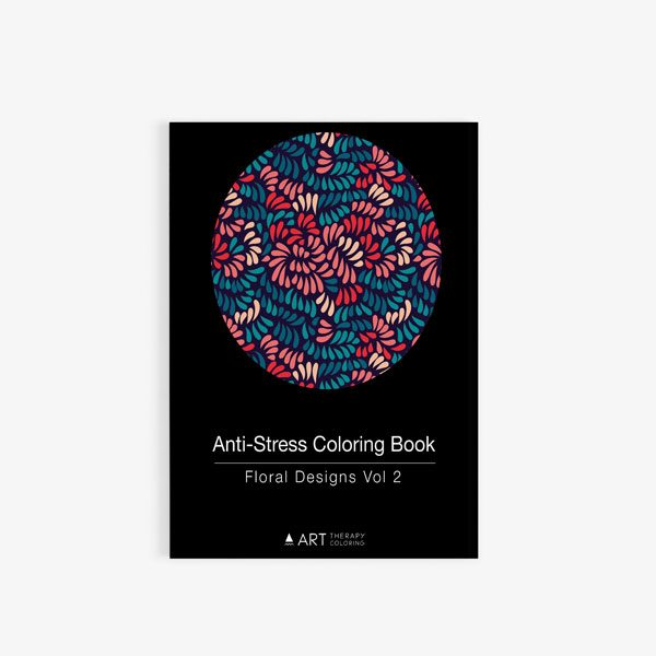 anti-stress coloring book floral designs vol 2 front cover