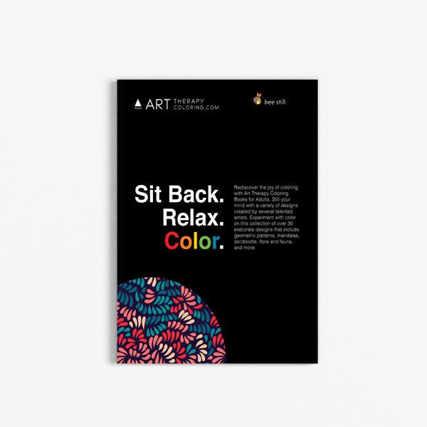 Anti Stress Coloring Book Floral Designs Vol 2 Back Cover
