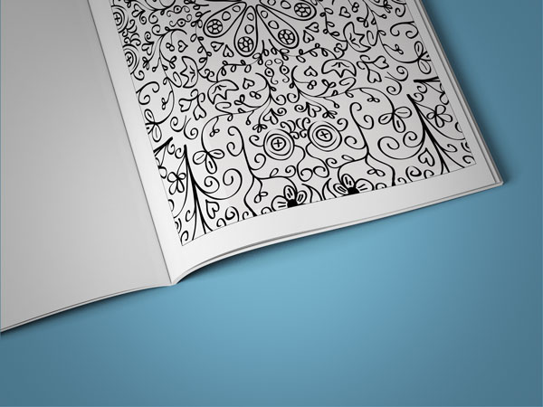 anti-stress coloring book floral designs vol 2 page zoomed in