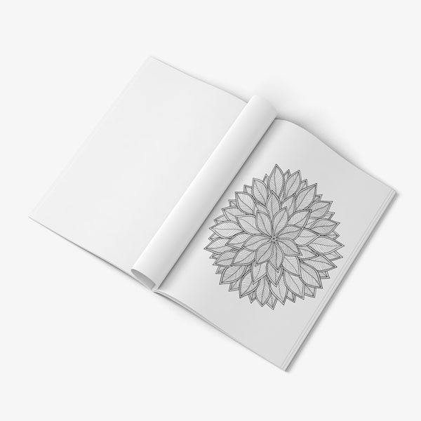 anti-stress coloring book floral designs vol 2 page