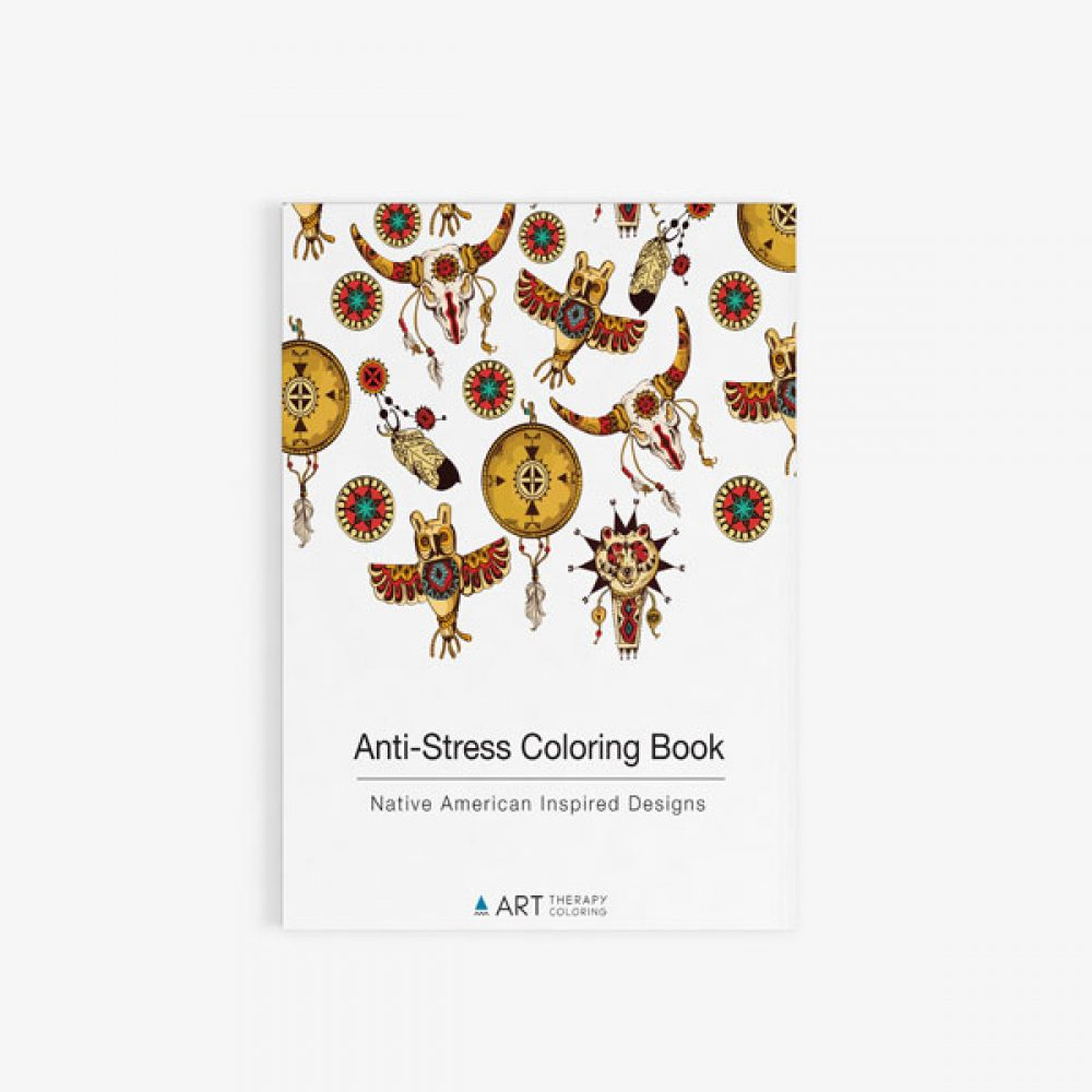 anti stress coloring book native american inspired designs cover - Native American Coloring Book