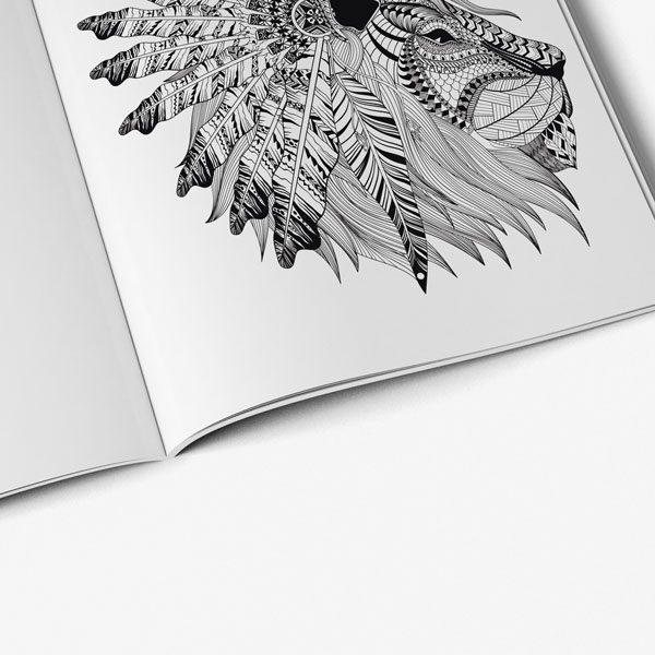 anti stress coloring book native american inspired designs page