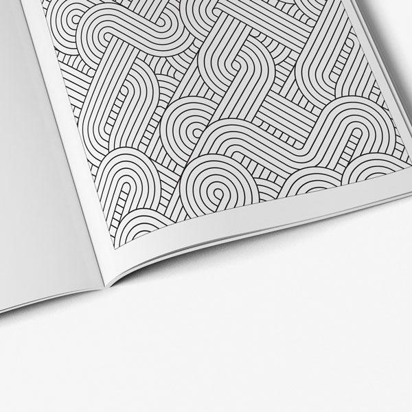 anti-stress coloring book vol 4 geometric page
