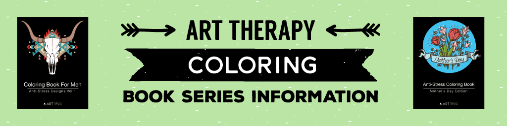 art therapy coloring book series information