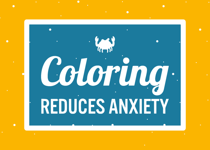 coloring reduces anxiety