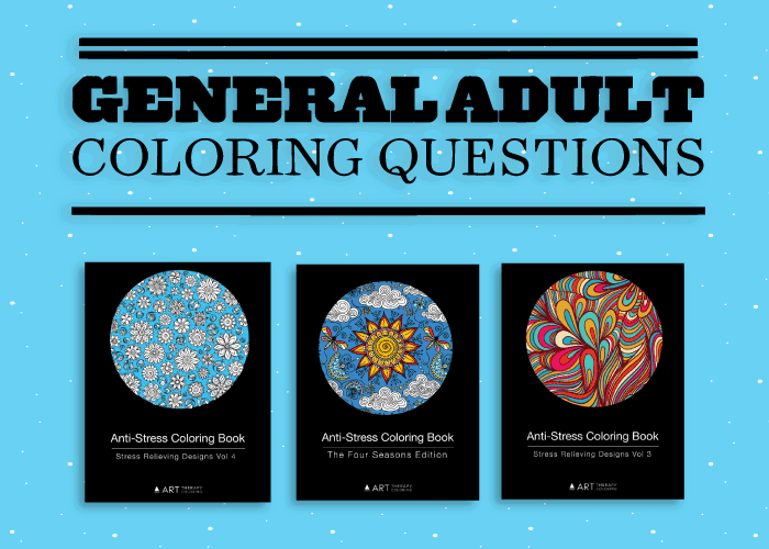 general questions regarding adult coloring books