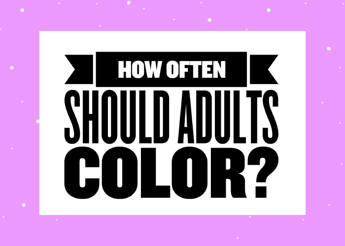 how often should adults color
