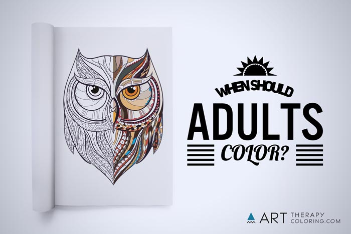 when should adult color owl coloring page