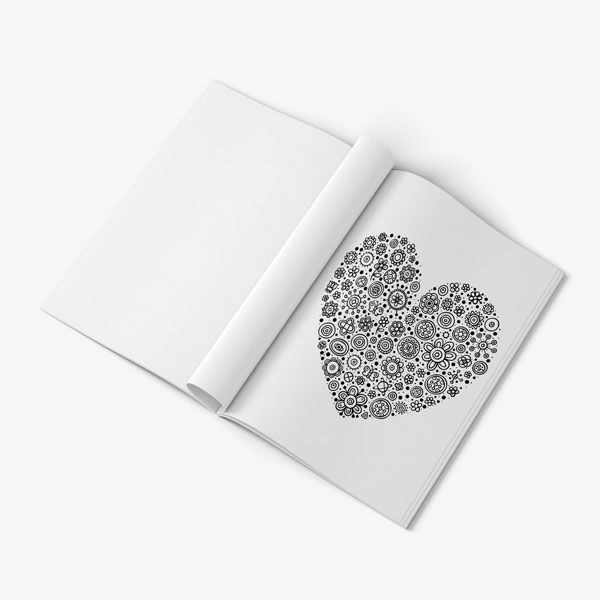 Valentines Coloring Book heart