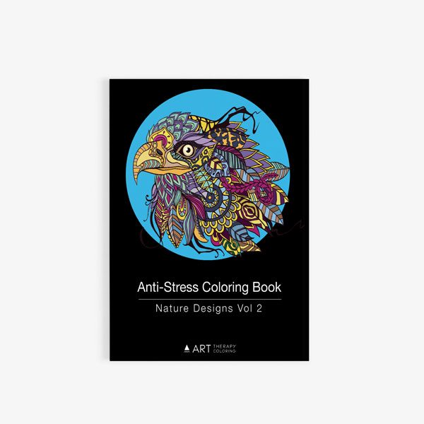 Anti Stress Coloring Book Nature Designs Vol 2 -0