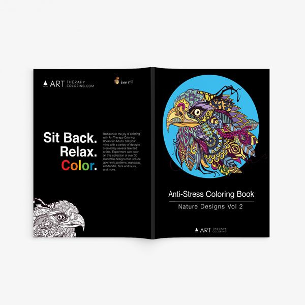 Anti Stress Coloring Book Nature Designs Vol 2 -2