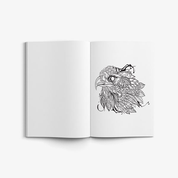 Anti Stress Coloring Book Nature Designs Vol 2 -6