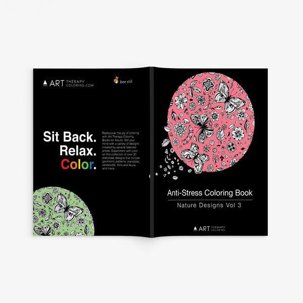Anti Stress Coloring Book Nature Designs Vol 3 -2
