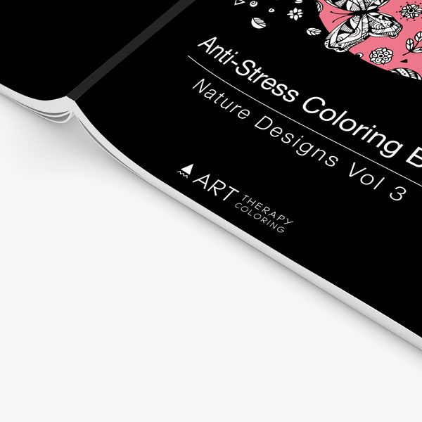 Anti Stress Coloring Book Nature Designs Vol 3 -4