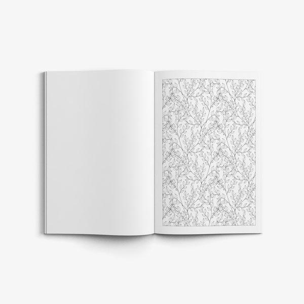 Anti Stress Coloring Book Nature Designs Vol 3 -5