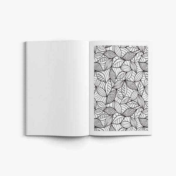 Anti Stress Coloring Book Nature Designs Vol 3 -6