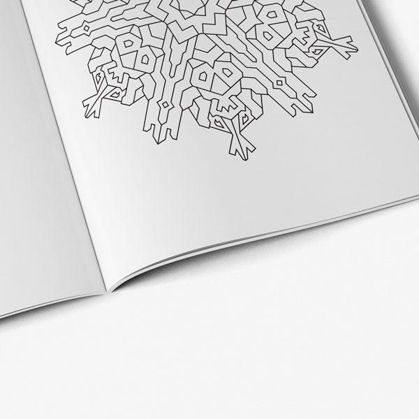 Anti Stress Coloring Book Nature Designs Vol 3 -7