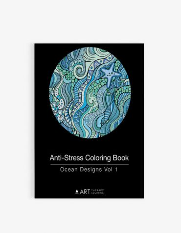 Anti Stress Coloring Book Ocean Designs Vol 1