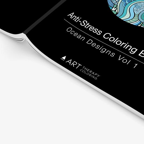 Anti Stress Coloring Book Ocean Designs Vol 1-4