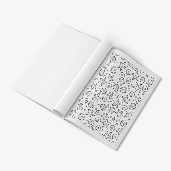 Anti Stress Coloring Book Ocean Designs Vol 1-8