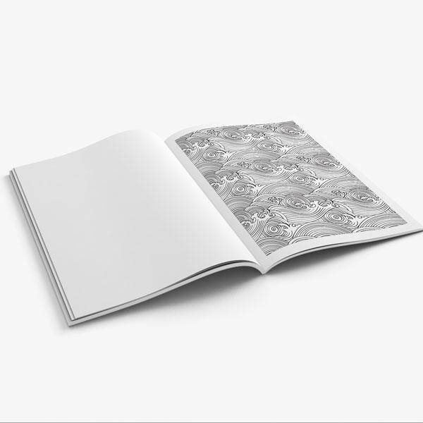 Anti Stress Coloring Book Ocean Designs Vol 1-9