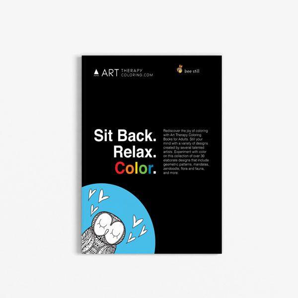Anti Stress Coloring Book Owl Designs Vol 1-1