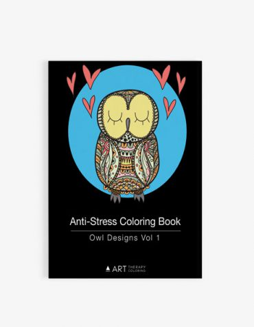 Anti Stress Coloring Book Owl Designs Vol 1