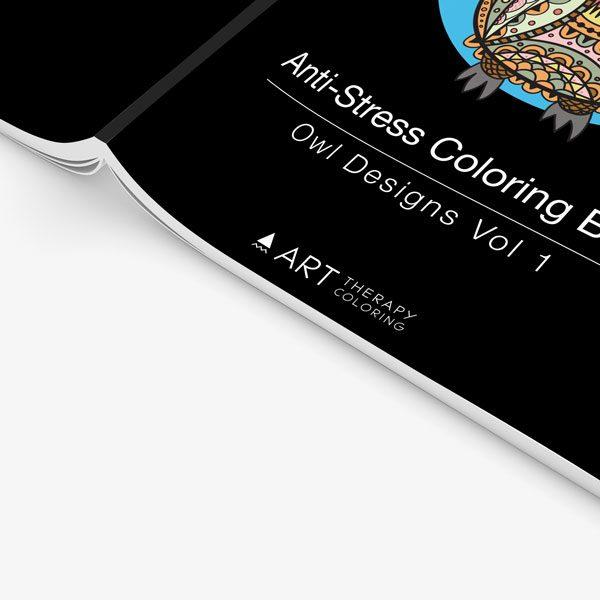 Anti Stress Coloring Book Owl Designs Vol 1-4