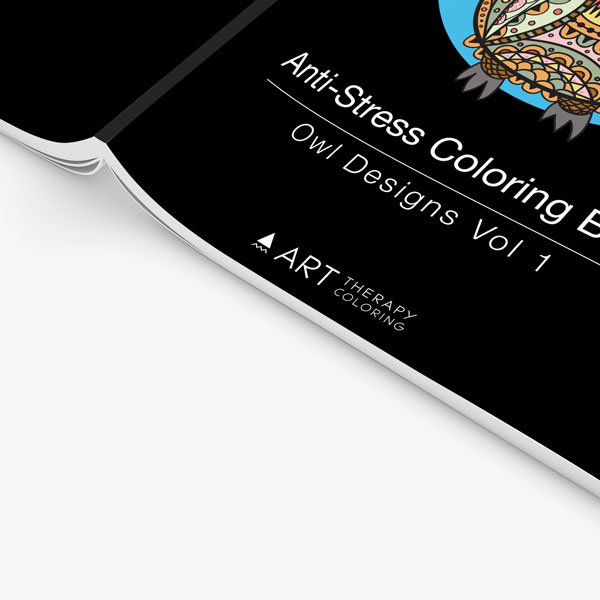 Anti Stress Coloring Book Owl Designs Vol 1-4