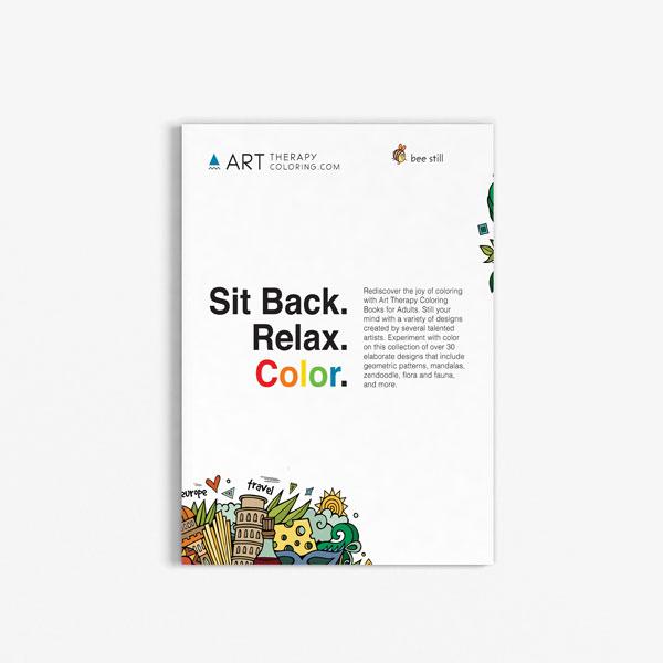 Anti Stress Coloring Book Travel Edition Vol 1-1