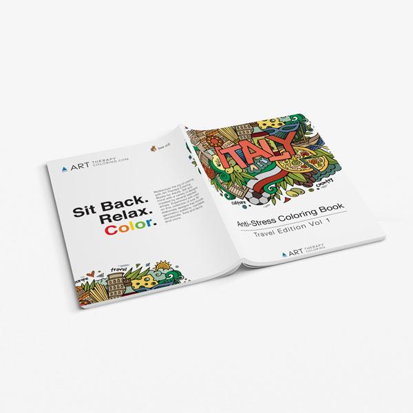 Anti Stress Coloring Book Travel Edition Vol 1-3
