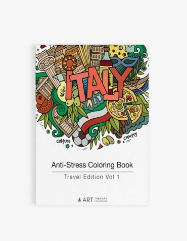 Anti Stress Coloring Book Travel Edition Vol 1